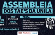 Assembleia dos TAE'S da Unila será realizada nesta terça-feira (19)