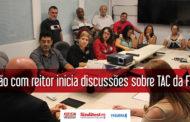 Reunião com reitor inicia discussões sobre TAC da FUNPAR