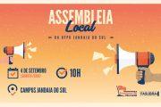 Sinditest-PR convoca TAEs da UFPR de Jandaia do Sul para assembleia local