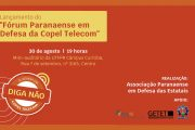 Fórum em defesa da Copel Telecom será lançado no dia 30 de agosto
