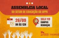 Sinditest-PR convoca categoria para a Assembleia Local do Setor de Educação da UFPR