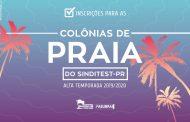 Inscrições para as Colônias de Praia do Sinditest-PR encerram dia 12!