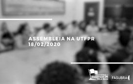 TAEs da UTFPR realizam grande assembleia contra cortes. Reitoria recua